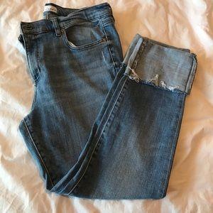 Loft Modern Skinny cuffed jeans